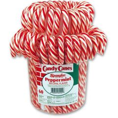 Spangler R&W Candy Canes 60 ct jar