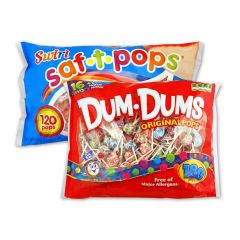 Dum Dums and Saf-T-Pops 300 ct Combo Pack