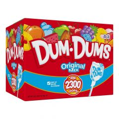 Dum Dums 30 lb bulk red box